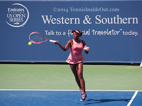 Sloane Stephens flying forehand Western and Southern Open 2014