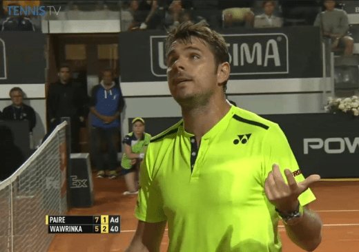 Stanislas Wawrinka Stan the Man fight with umpire