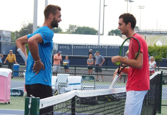Benoit Paire laugh with James Ward