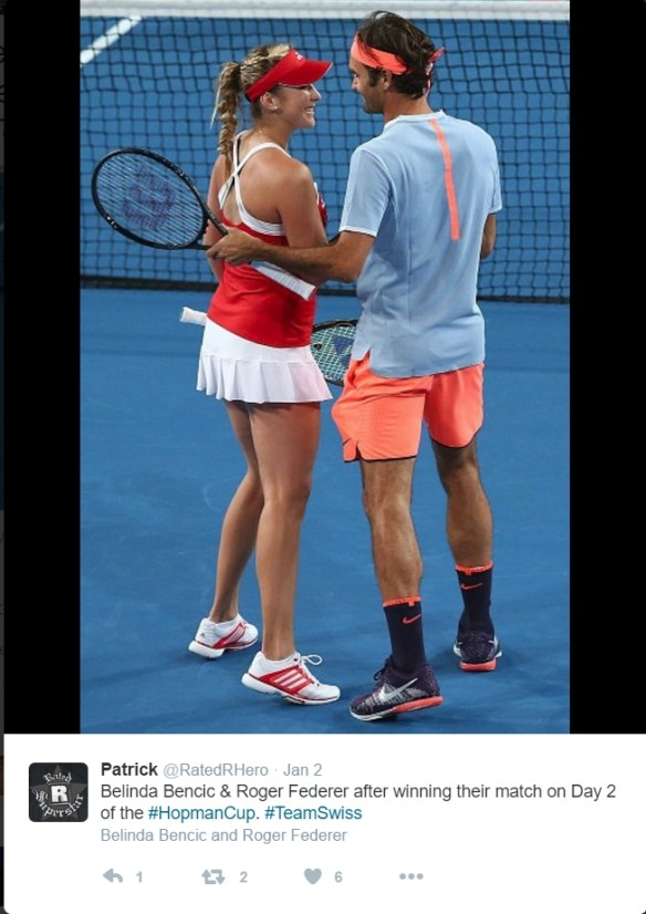 Belinda Bencic Roger Federer Hopman Cup doubles January 2017