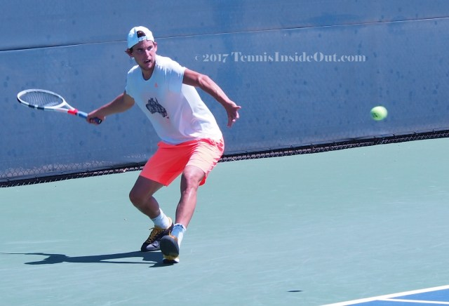 Thiem forehand wind-up tennis set-up tennis ball photos Cincy