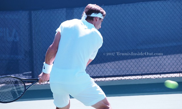 David Ferrer backhand tennis shot white shorts cute butt hot ass photos