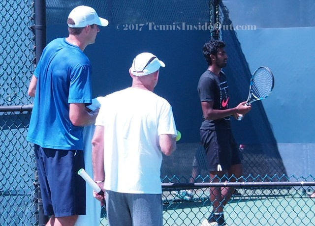 Big John checking out competition scouting practice tennis pics