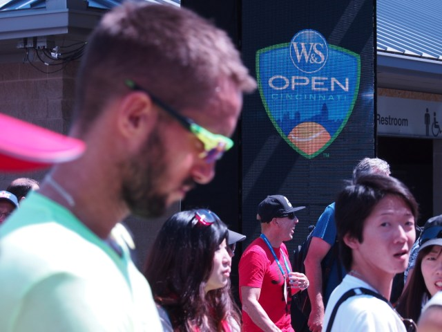 Western and Southern Open Viktor Troicki leaving practice court 2017
