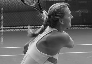 Cincinnati premier tennis sexy shoulder blades full backhand swing cute blonde red headed braid sexy Petra Kvitova photos