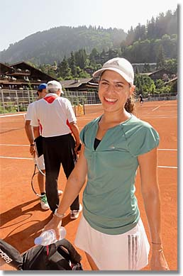 Photo of Saniya, at Roy Emerson Tennis Week, Gstaad, Switzerland