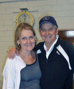 Roy Emerson and Lesley Silvester at Roy Emerson Tennis Week in Gstaad, Switzerland