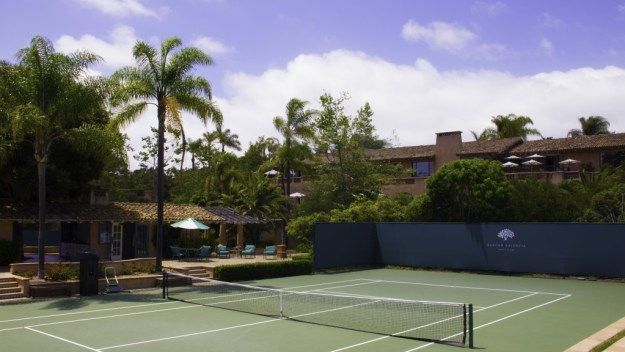 Clubhouse tennis court at Rancho Valencia Resort & Spa