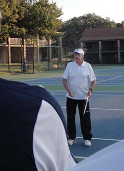 Roy Emerson clinic at John Newcombe Tennis Week