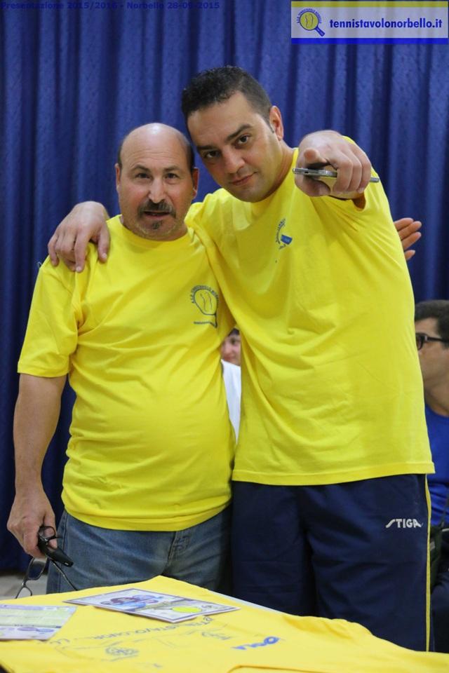 Massimiliano Mondello con il collega Tore Scotto (Foto Gianluca Piu)