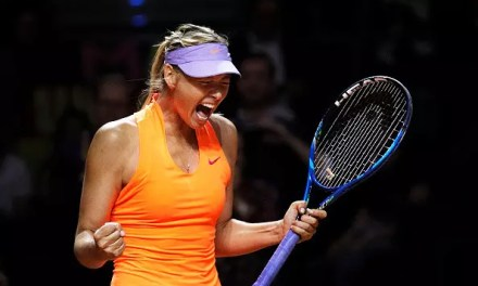 Sharapova makes a noisy return