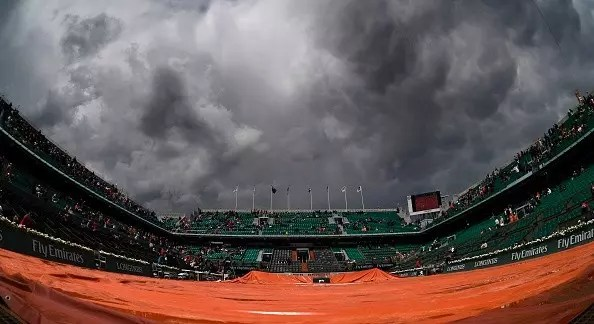 French Open | Only two matches survive washout