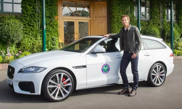 Andy Murray serves up New Jaguar XF Sportbrake