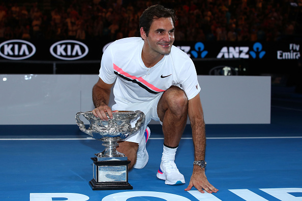 Melbourne   Federer hits the 20 mark