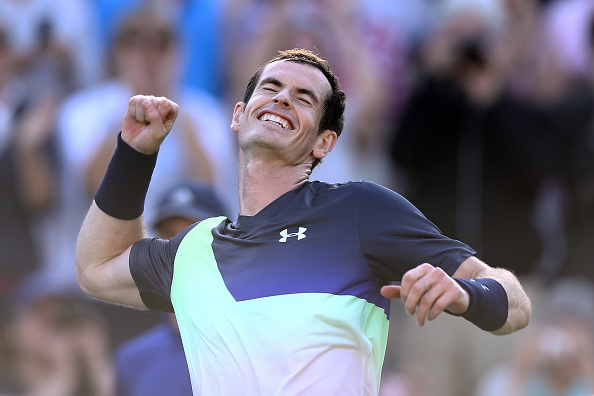 Eastbourne   Murray secures his first win