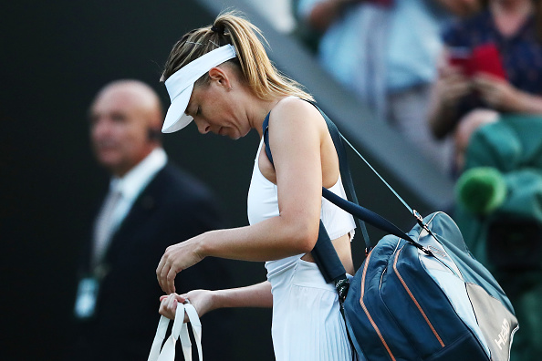 Wimbledon Sharapova crashes out