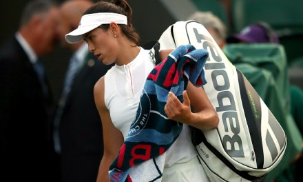 Wimbledon   Muguruza crashes out