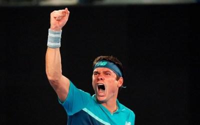 Melbourne   Raonic and Nishikori survive through to round three