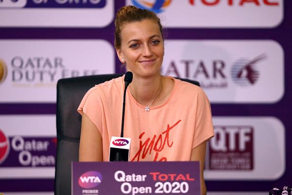 Kvitova against closed door majors