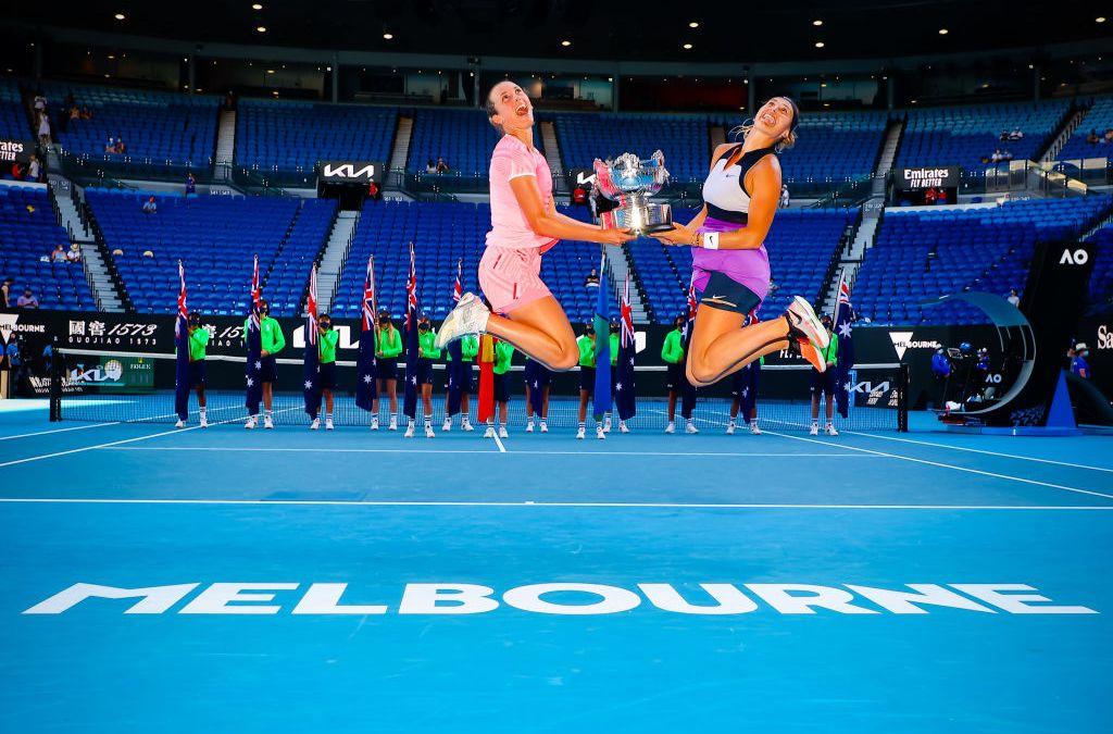 Mertens & Sabalenka win AO Women's Doubles title
