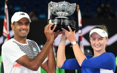 Krejcikova & Ram win AO mixed doubles title
