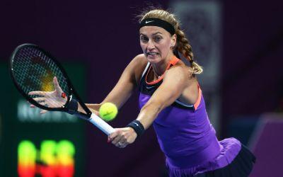 Kvitova beats Pegula to book Muguruza final