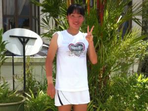 角矢安鳩方ITF初勝利