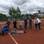 Gymles op de tennisbaan