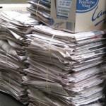 Spaar oud papier en help TV Nieuw-Vennep