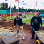 Terras en tennispark aangepakt