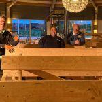 Update: houten bankjes