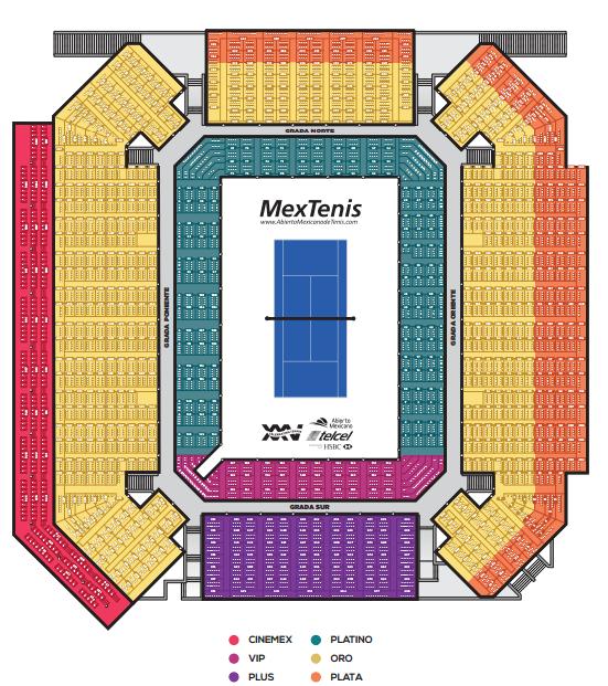 Mexican Open Stadium Map