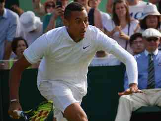 Was Nick Kyrgios pepped up by the chair umpire?