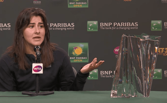 Andreescu beats Kerber to win at Indian Wells