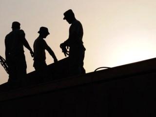 工事現場の人々