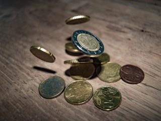 たくさんのコイン