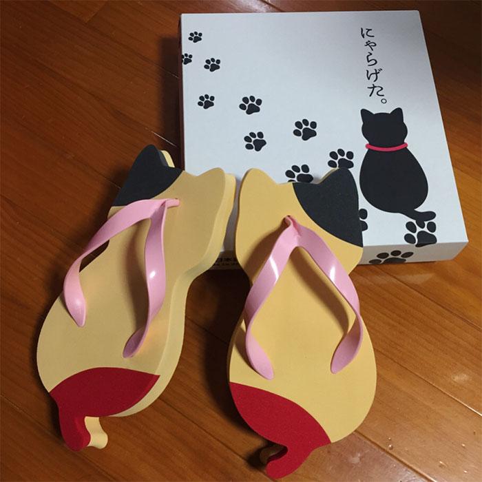 Sandal Jepang Berbentuk Kucing Sangat Menggemaskan