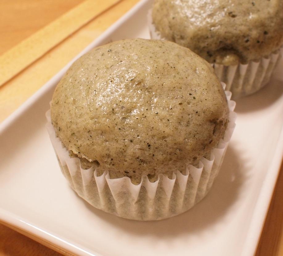 緑茶蒸しパン