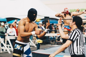 Mexican Wrestling at 10th Ave Burrito's Cinco de Mayo Event