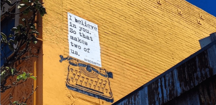 """two believe"" by WRDSMTH. Photo courtesy of the artist."
