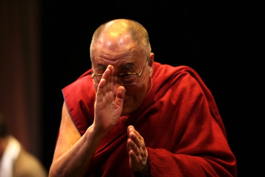 His Holiness, the Dalai Lama, at an Action for Happiness event