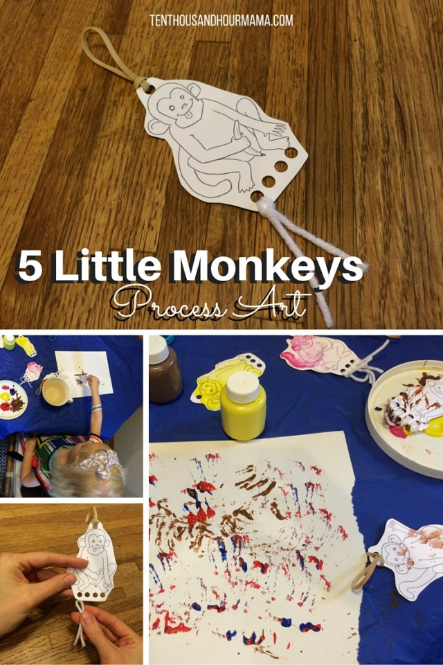 5 Little Monkeys craft process art download