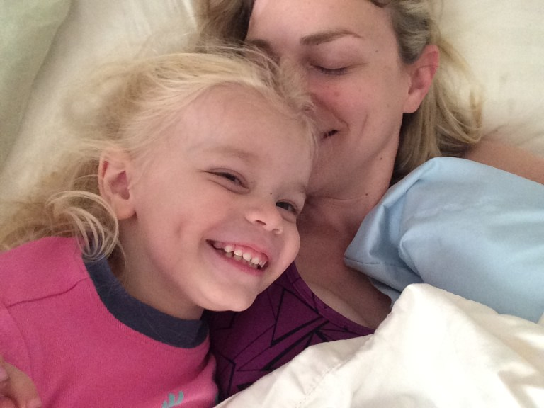preschooler love bed snuggles