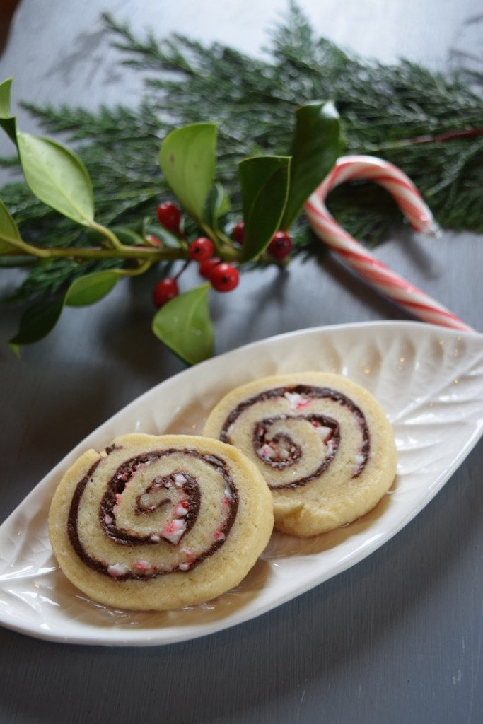 Pretty Christmas Cookies Chocolate Candy Cane Pinwheels