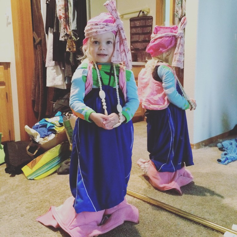 Watching my daughter's creativity in dress up makes my gratitude list. What's on yours? Ten Thousand Hour Mama