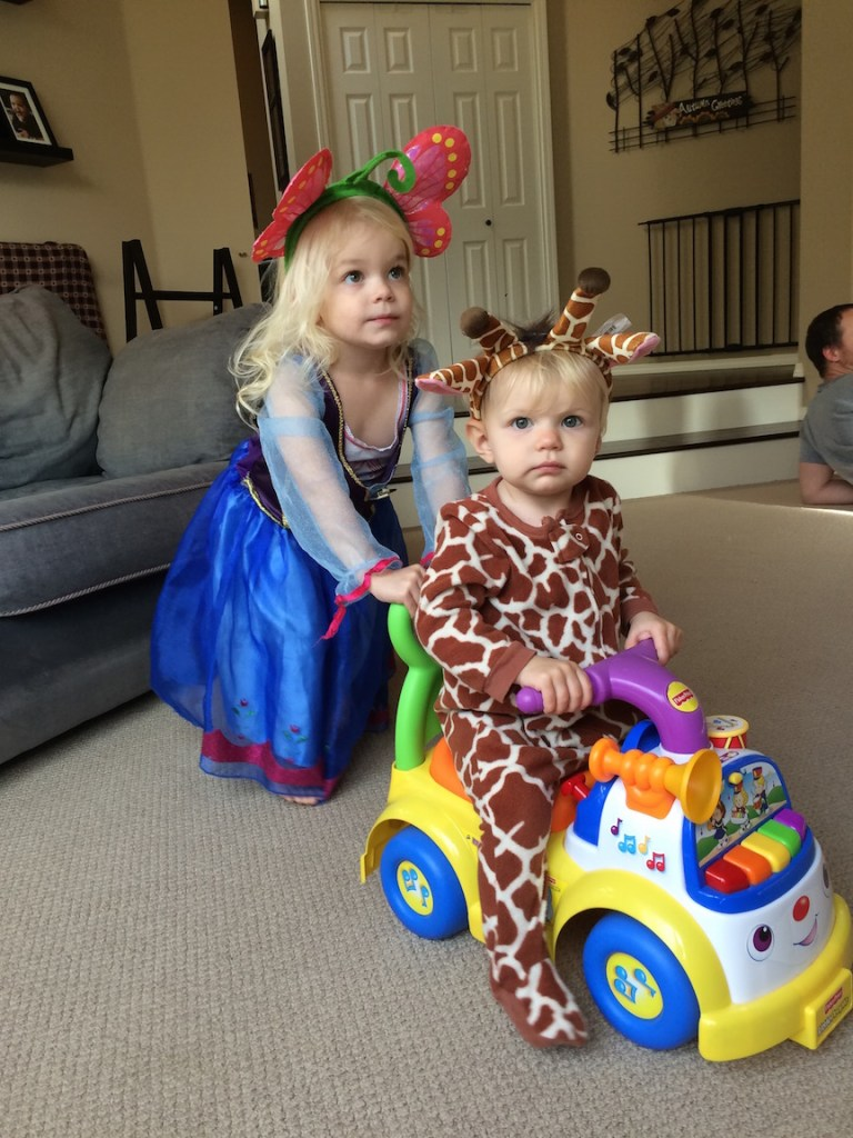 Whether they're dressing up or playing gymnastics, my girls are inseparable. Ten Thousand Hour Mama