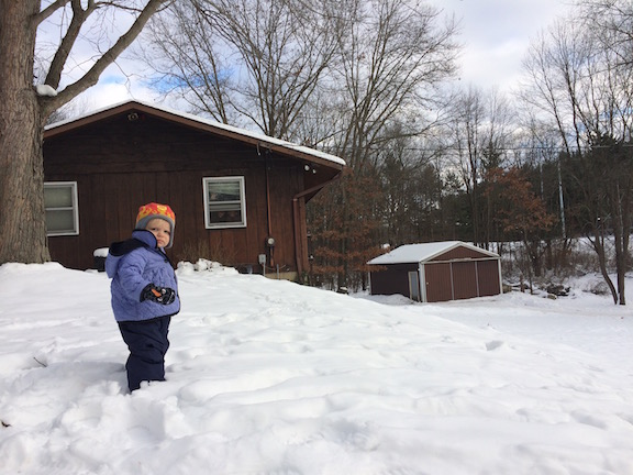 My toddler loves the outdoors but is less certain about the snow: yet another thing that makes her uniquely her. Ten Thousand Hour Mama
