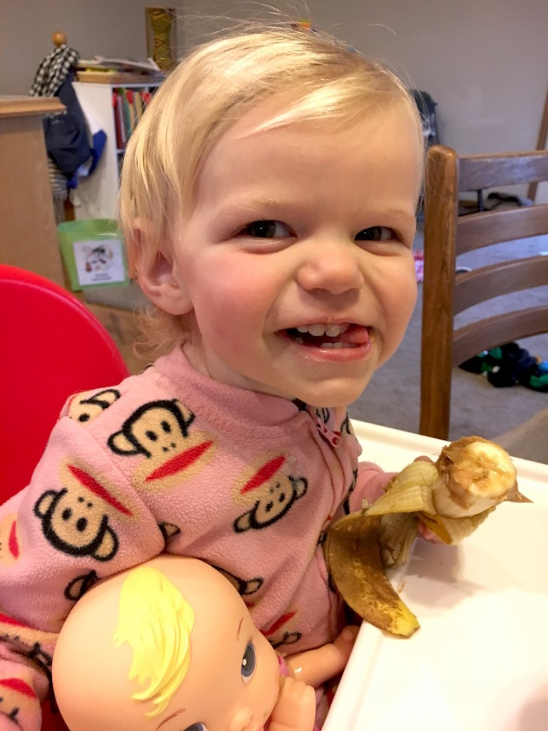 She won't eat much, but give my toddler some peanut butter and she's happy! Ten Thousand Hour Mama
