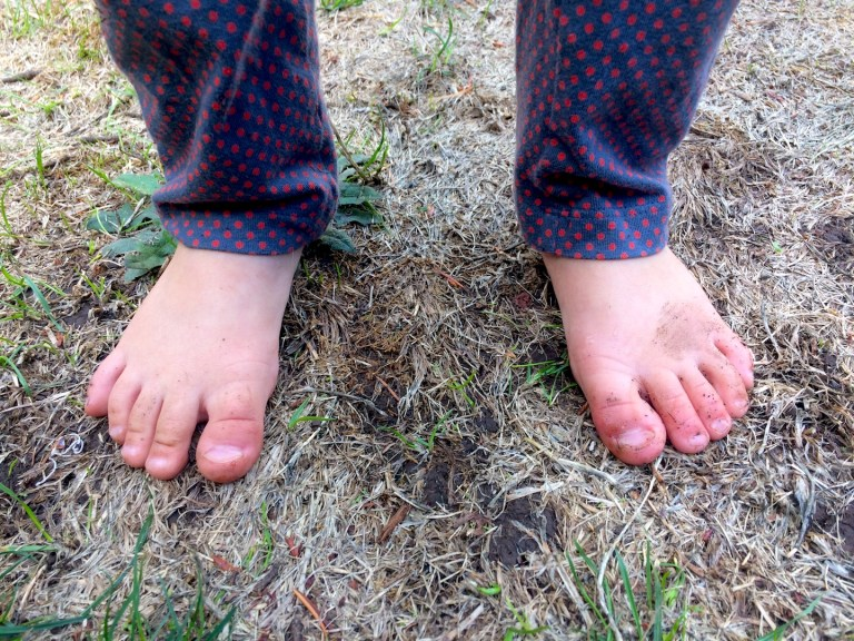 Saying goodbye to summer feet - how going barefoot makes the most of childhood. Ten Thousand Hour Mama