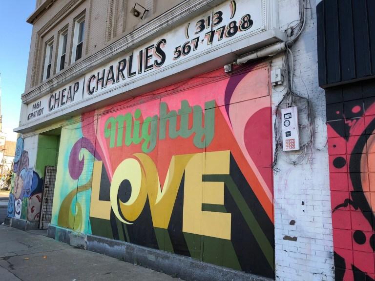 Inspiring street art graffiti in Detroit's Eastern Market. Ten Thousand Hour Mama